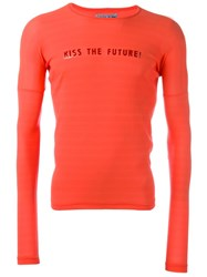 Walter Van Beirendonck Vintage 'Kiss The Future' Long Sleeve Top Pink And Purple