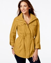 Jm Collection Hooded Solid Anorak Jacket Only At Macy's Saffron Gold