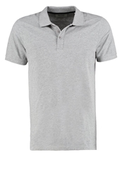 Only And Sons Tarik Polo Shirt Light Grey Melange Mottled Light Grey