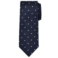 Chester Barrie By Textured Spot Silk Tie Navy White