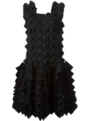 Yohji Yamamoto Cut Out Geometric Dress Black