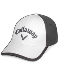 Callaway Men's Tour Staffer Colorblocked Embroidered Logo Hat White