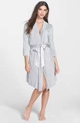 Fleurt Women's Fleur't 'Take Me Away' Short Robe Heather Grey
