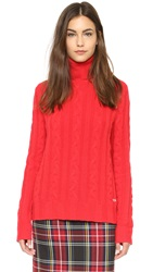 Banjo And Matilda Surfer Cashmere Cable Knit Sweater Poppy