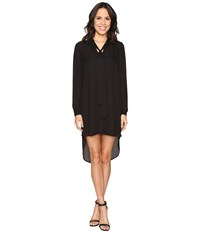 Brigitte Bailey Kali Shirtdress With Back Button Detail Black Women's Dress