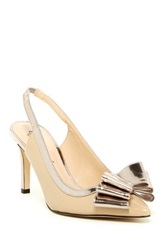 J. Renee Marva Patent Slingback Pump Wide Width Available Beige