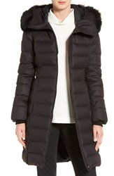 Soia And Kyo Women's Genuine Fox Fur Trim Quilted Long Down Coat