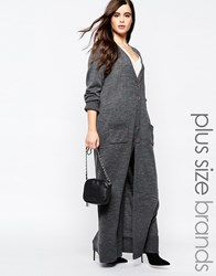 Missguided Plus Button Up Cardigan Grey