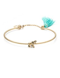 Lonna And Lilly Goldtone Tassel Bangle Bracelet