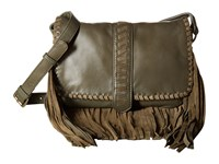 Scully Mandy Soft Fringe Leather Handbag Loden Tan Handbags Brown