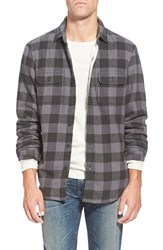Men's Wallin And Bros. Thermal Lined Flannel Shirt Grey Phantom Black Buffalo