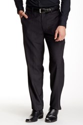 Louis Raphael Modern Fit Micro Tattersall Pant 30 34' Inseam Gray