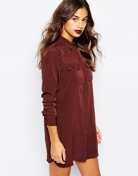 Vero Moda Long Sleeve Shirt Dress Fudge