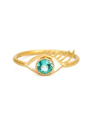 Marie Helene De Taillac 14Kt Gold Eye Ring Metallic