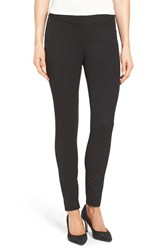Vince Camuto Petite Women's Seamed Panel Skinny Pants Rich Black