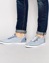 Rock And Religion Boating Plimsolls Blue