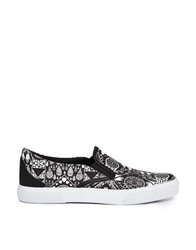 Monki Lily Slip On Trainers Blackprint