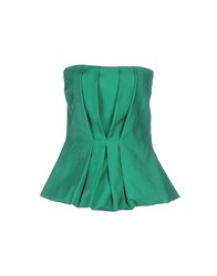 Space Style Concept Topwear Tube Tops Women Green