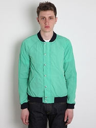 Band Of Outsiders Men's Nylon Varsity Jacket In Green At Oki Ni