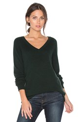 Equipment Asher V Neck Sweater Dark Green