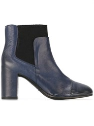 Roberto Del Carlo Chunky Heel Ankle Boots Blue