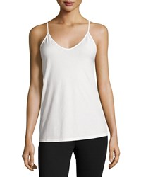 Skin Scoop Neck Fitted Camisole Powder