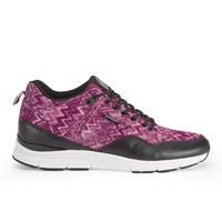 Gourmet Men's 35 Tx Trainers Raspberry Black Leather