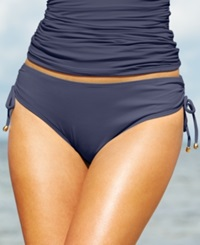 Anne Cole Side Tie Swim Brief Bottom Women's Swimsuit Navy
