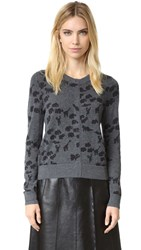 Marc Jacobs Animal Cashmere Sweater Grey Melange Multi