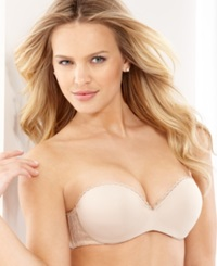 Lily Of France Gel Pad Strapless Push Up Bra 2111121 Barely Beige