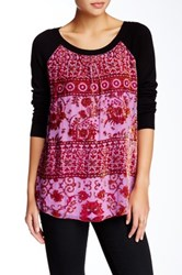 Hale Bob Silk Blend Sweater Pink