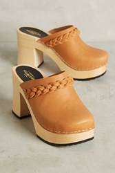 Anthropologie Swedish Hasbeens Laila Clogs Neutral