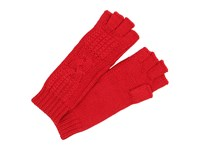 Ugg Isla Lurex Cable Fingerless Glove Scarlett Multi Extreme Cold Weather Gloves Red