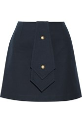 J.W.Anderson Bonded Cotton Twill Mini Skirt Blue