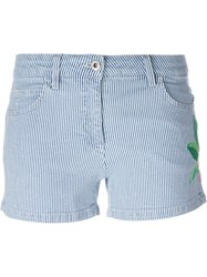 Blumarine Striped Shorts Blue