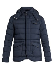 Herno Hooded Quilted Down Jacket Navy
