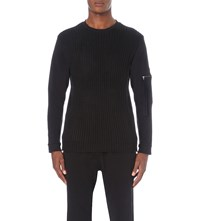 Blood Brother Tensile Panel Cotton Sweatshirt Black