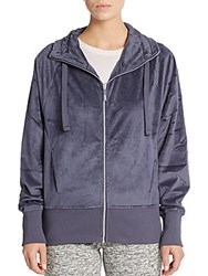 Andrew Marc New York Velour Jacket Chrome