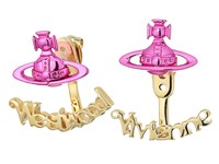 Vivienne Westwood Toni Earrings Nano Fuchsia Gold Earring
