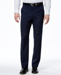 Alfani Red Men's Traveler Navy Solid Slim Fit Pants Only At Macy's
