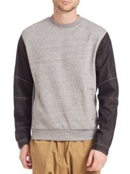 Mostly Heard Rarely Seen Two Tone Crewneck Sweatshirt Heather Grey