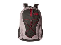 The North Face Women's Jester Quail Grey Heather Cerise Pink Backpack Bags Gray