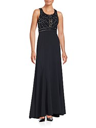 Sue Wong Solid Embellished Gown Black