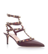 Valentino Rockstud Roll Pumps 65 Female Wine