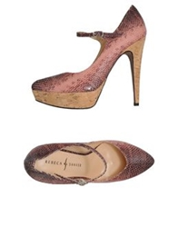Rebeca Sanver Platform Pumps Pastel Pink