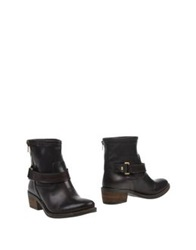 Annarita N. Ankle Boots Dark Brown