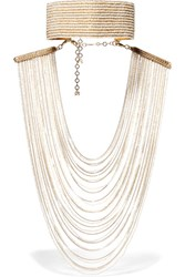 Rosantica Eleonora Convertible Gold Tone Pearl Necklace
