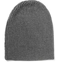 Beams Plus Waffle Knit Cotton Blend Beanie Gray