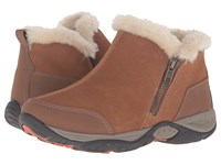 Easy Spirit Excellite Medium Brown Multi Suede Women's Shoes
