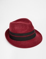 Catarzi Trilby Hat Red
